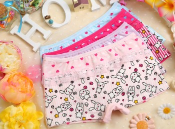 Bunny girls printed cute boxer briefs. HM-8239