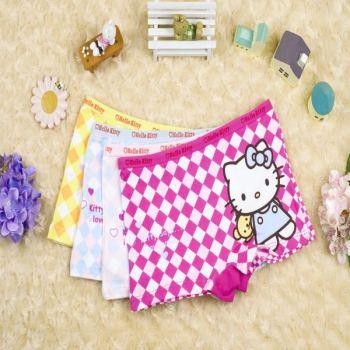 Boyshort for girls lovely KT printed children's underwear HM-8133