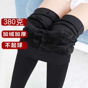 380 autumn and winter Leggings colorful cotton and cashmere thickened thin Pants XL one ladies wear high waist