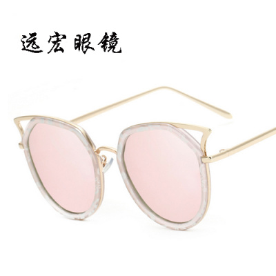 The new trend of colorful fashion lady cat eye sunglasses sunglasses