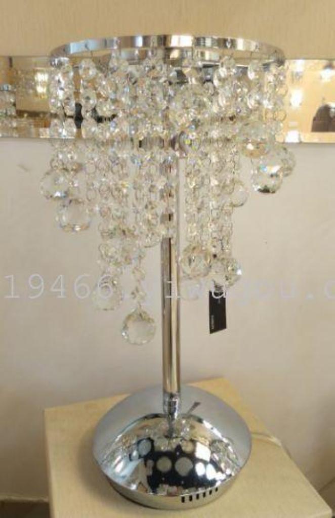 厂家欧式奢华水晶台灯卧室床头灯时尚装饰台灯调光客厅灯饰