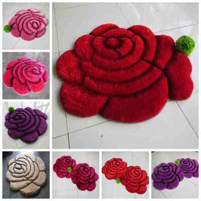 3D stereo rose bedroom mat computer chair cushion pad
