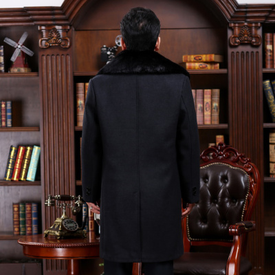 Pedicle male clothing in autumn and winter in the elderly with long hair and thick coat thick coat father