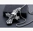 Men's personality domineering skull casting boys Cross Pendant Stainless Steel Pendant Necklace for men
