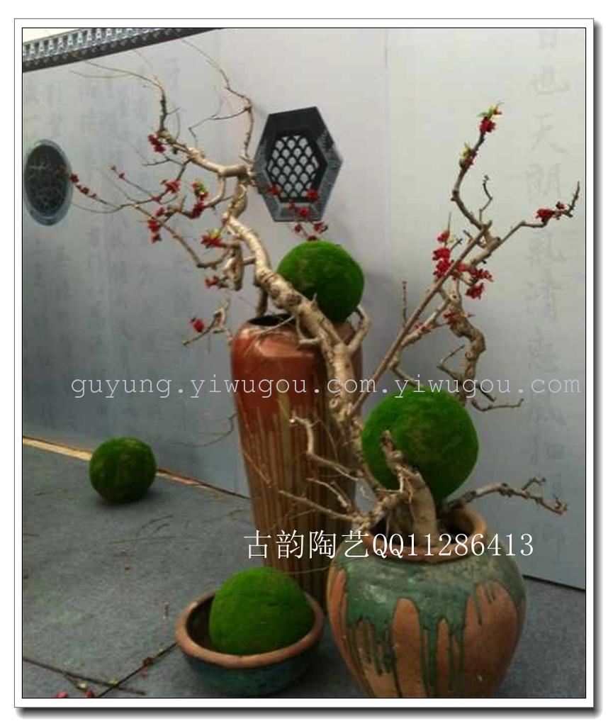陶瓷摆件花瓶 软装设计摆件 室外景观用品