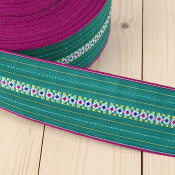 With bright knitted fine color woven Ribbon fashion jewelry accessories