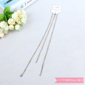 Fashion stainless steel chain necklace stainless steel bracelet stainless steel jewelry