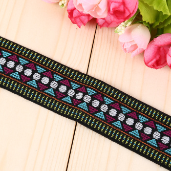 Bright knit ethnic Jacquard weaving Ribbon fashion jewelry accessories