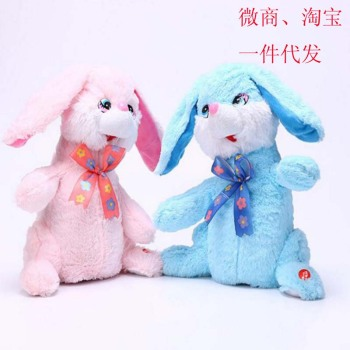 Taking the micro explosion of film music and dance rabbit ears rabbit electric plush toys selling toy stall