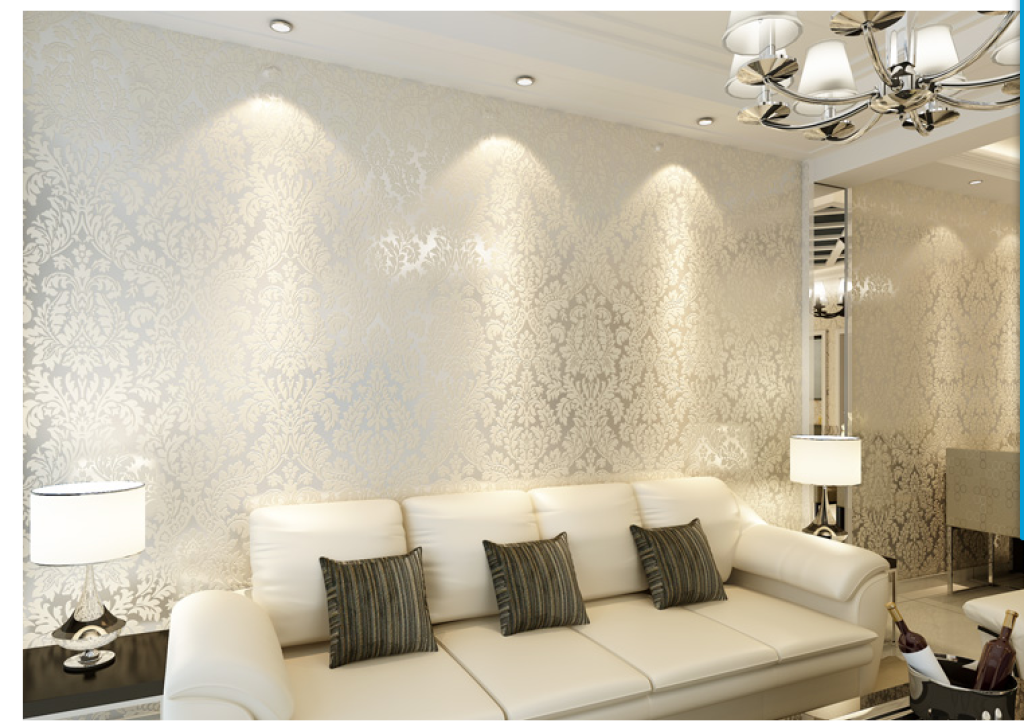 无纺布墙纸 欧式客厅卧室3d 电视背景墙大马士革环保家装
