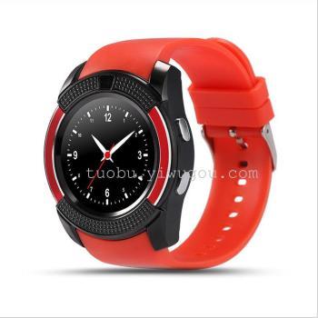 新款V8 圆屏智能手表 成人时尚插卡蓝牙电话手表