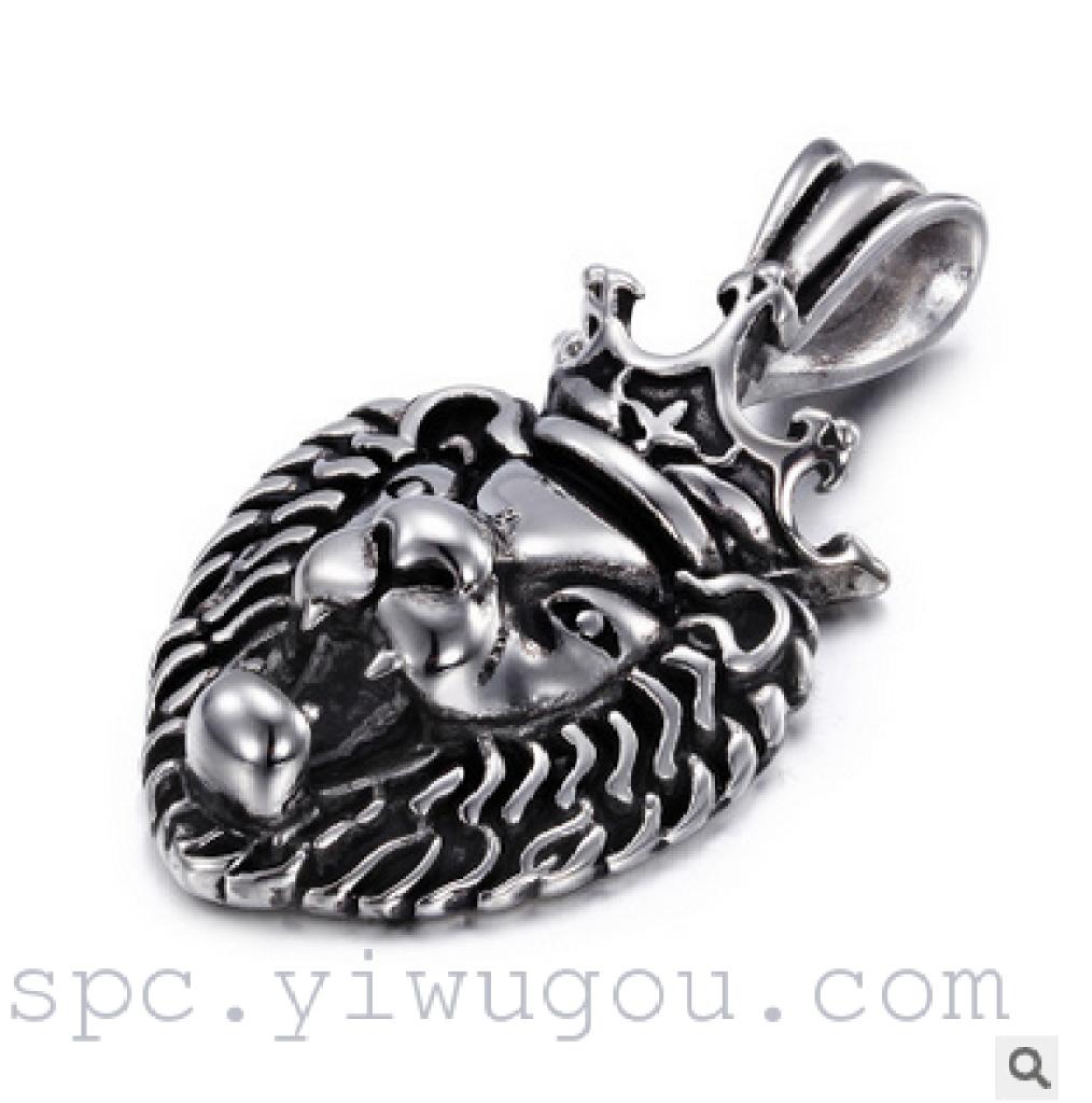 2016新款动物狮子头吊坠男士项链个性饰品批发欧美
