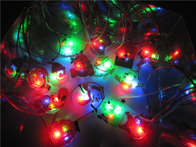 Christmas explosion led Necklace stall selling Christmas gift manufacturers selling children