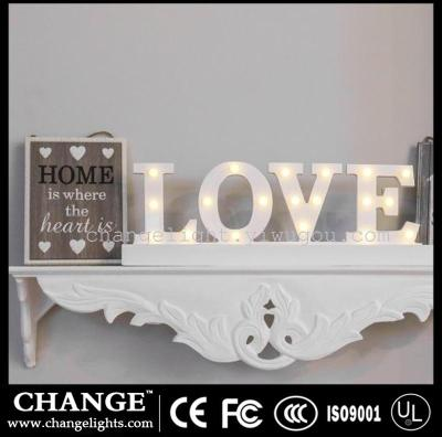 Supply Home Decorative Wood Craft Love Letter Light Valentine S Day