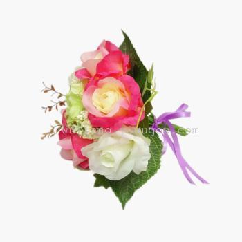 假花绢花高档婚庆新娘手捧仿真花布置装饰 安娜玫瑰花图片