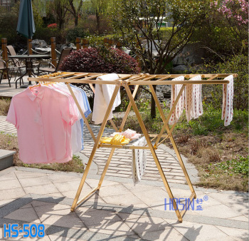 Aluminum alloy floor type air drying clothes rack movable balcony clothes airing hanger baby diaper towel drying quilt
