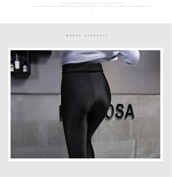Autumn and winter with velvet leggings and women wear thick warm trousers thin skinny pants pants luster size