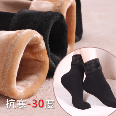 Warm winter socks  socks cashmere silk stockings bodiness anti cracking socks with velvet carpet floor socks and socks