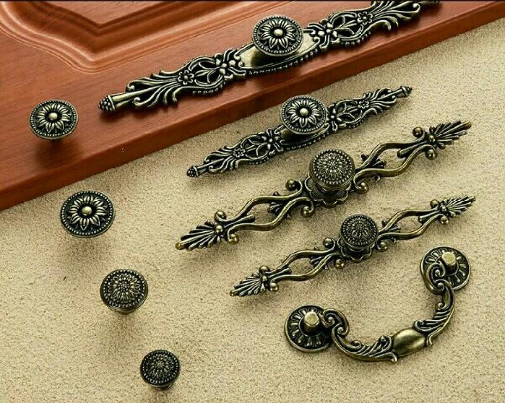 欧式仿古衣柜橱柜拉手 复古古铜色柜门把手 鞋柜抽屉