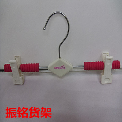 Colored children collodion antiskid clothes hangers, cartoon baby clothes hanger, trousers clips