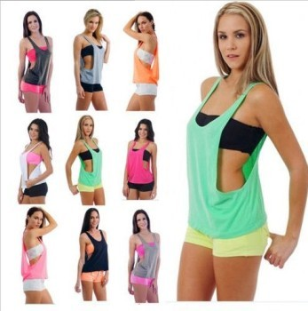 European and American sports leisure fitness yoga vest blouse factory direct