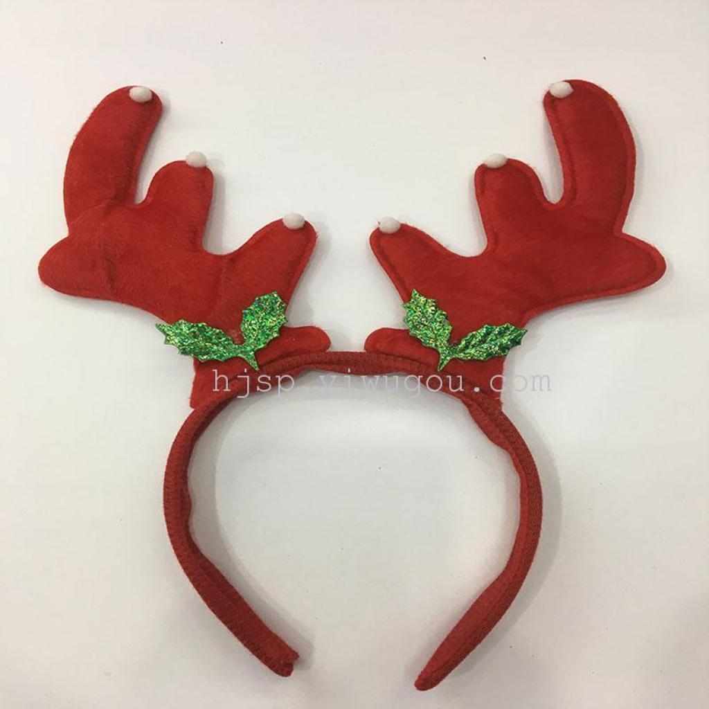 圣诞节装饰 鹿角头箍 圣诞鹿角头扣 卡通动物