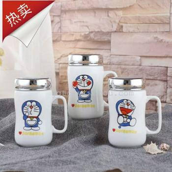 Creative gifts ceramic mirror cup students love cup birthday gift coffee cup
