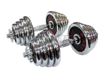 HJ-A044 colorful electroplating small barbell dumbbell fitness man fitness dumbbell removable 30kg