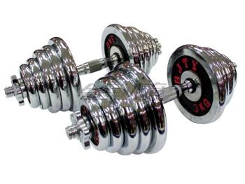 HJ-A045 colorful plate combination dumbbells Barbell for fitness Small detachable men's fitness dumbbell 40KG
