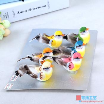 The bird garden arts and crafts decorative ornaments fake bird handmade bird feathers decoration