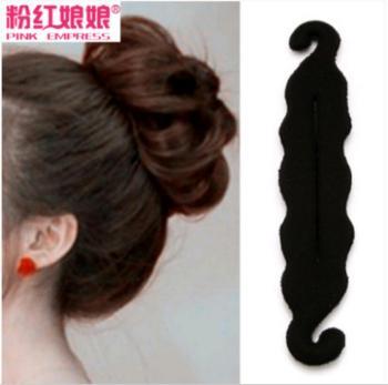 Korean headdress ornaments meatball head energy-saving hair braider with a sponge tool issuing new accessories hair bud