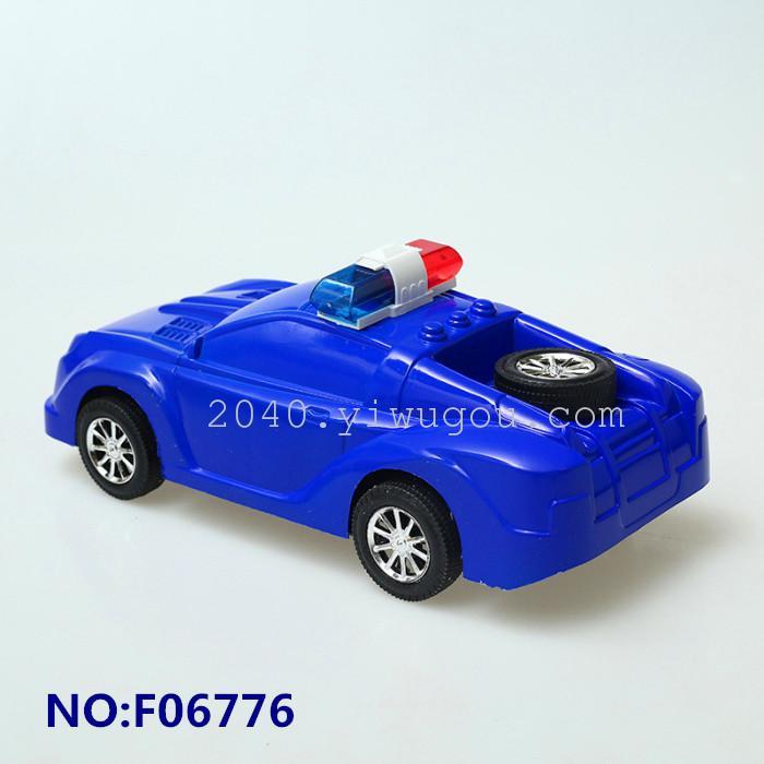 慣性玩具警車 帶警燈備胎 貼紙自貼 兒童玩具車