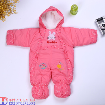 Baby Onesies thickened baby out coverall baby ha thickening in autumn and winter clothes peg cotton cotton Romper