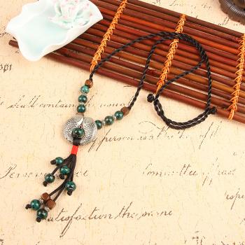 民族风环保陶瓷项链毛衣链