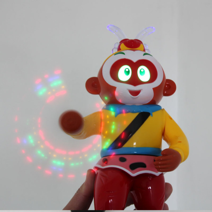 会动的机器人囹�a_电动孙悟空跳舞机器人玩具 西游记 益智好玩会动会跳舞的悟空