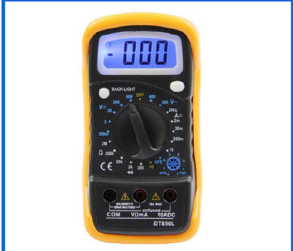 数字万用表 dt830l/850l 万能表 背光显示功能