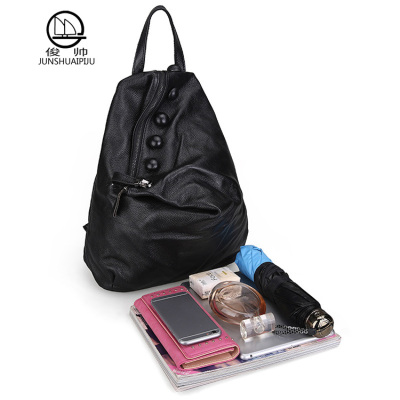 [328] leather bag bag dual-purpose male head layer cowhide Large Backpack Travel Bag