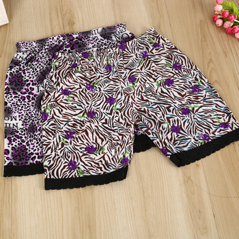 Five ladies and small floral print leggings wardrobe malfunction-proof boxer briefs
