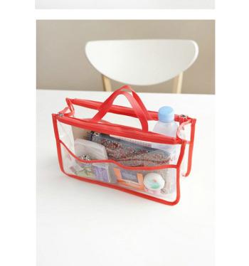 Cosmetics packaging bag PVC garment packaging bag zipper bag transparent PVC bag