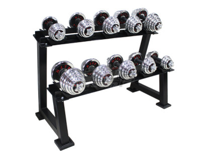Hj-a010 military double-decker gymnasium fixed dumbbellers professional with 5 pay shelves.