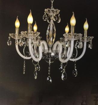 欧式水晶吊灯8头6头客厅奢华大气蜡烛卧室餐厅水晶灯
