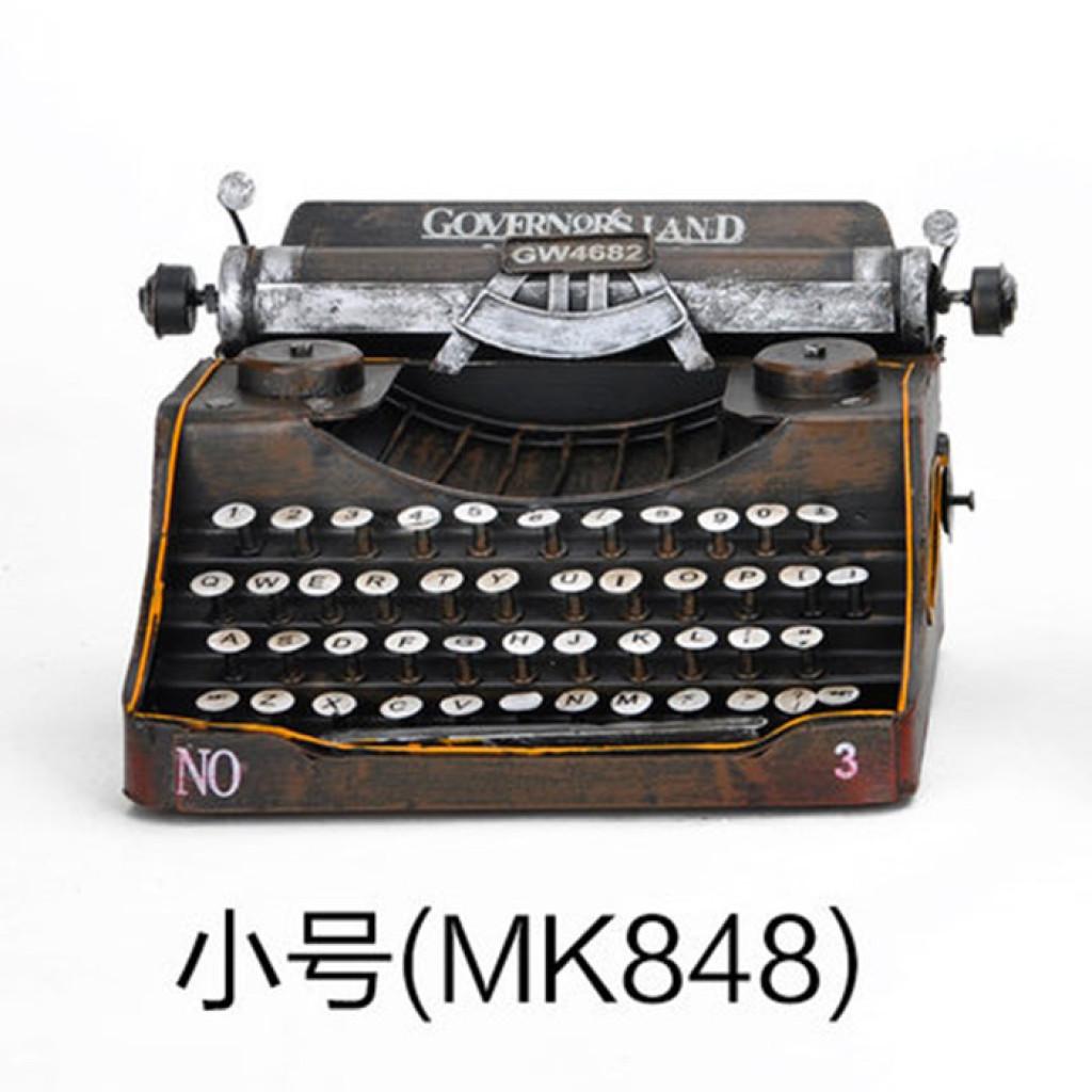 复古欧式打字机模型装饰摆件 酒吧客厅家居工艺橱窗创意摄影道具