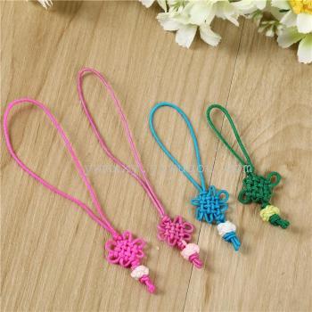 Color handmade Chinese knot phone key pendant jewelry lanyard hanging chain