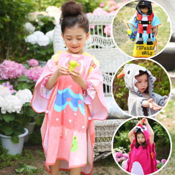 The original South Korea new styling Cotton Bathrobe children towel bathrobe baby 70*140