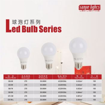 High brightness LED plastic & aluminium bulb energy-saving lamp bulb