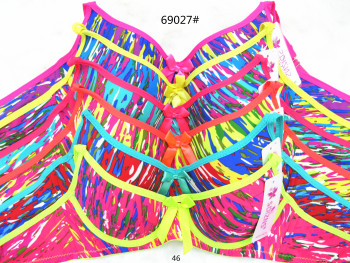 New camouflage girls cup spot bra foreign trade printing thin cup ladies underwear Yiwu bra cross-border wholesalers