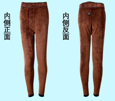 The old man Leggings waist knee double warm pants students
