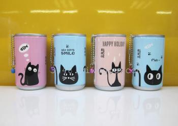 2017 new cartoon funny cat series 30 canned wipes
