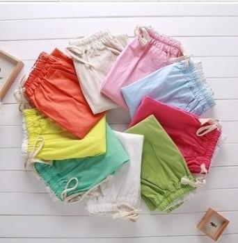 Linen pants nine women's casual pants candy color pencil cotton pants feet
