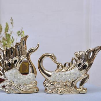 Ceramic decoration decoration new wedding couples Home Furnishing Swan creative gift crafts
